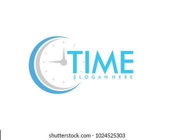 clock stopwatch watch barometer pressure gauge time measurement vector logo design