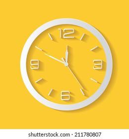 Clock symbol,clean vector