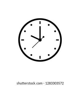 clock, ten o'clock, time icon vector