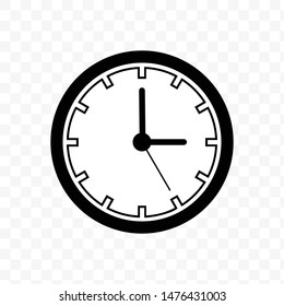 Clock Time Icon Vector Illustration - Vector