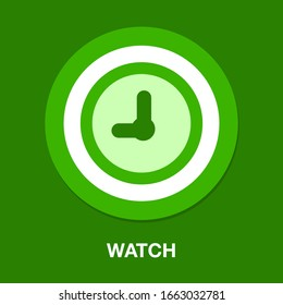 Clock time sign icon. watch symbol