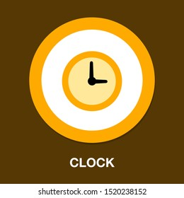 Clock time symbol icon - vector alarm isolated