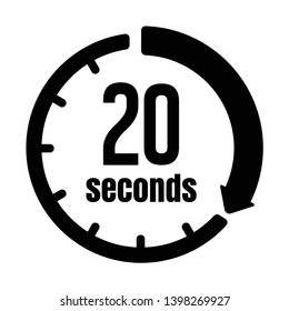 Clock , timer (time passage) icon / 20 seconds
