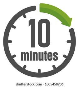 Clock , timer (time passage) icon / 10 minutes