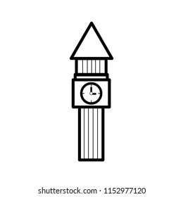 Clock tower design Bell roof design is not easy with geometric shapes. On the back of white is used for both print and web site.