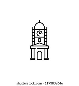 clock tower, faisalabad landmark icon. Element of Pakistan culture for mobile concept and web apps illustration. Thin line icon for website design and development, app development