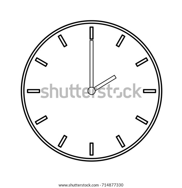 Clock Transparent Vector Icon White Background Stock Vector