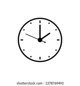 Clock, two o'clock, time icon vector
