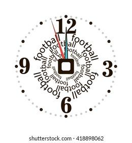Clock. Vector football clock