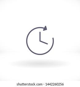 clock vector icon 10 eps , Lorem ipsum Flat design