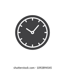 Clock vector icon. filled flat sign for mobile concept and web design. Watch simple solid icon. Symbol, logo illustration. Pixel perfect vector graphics