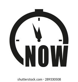 Clock vector icon - Now