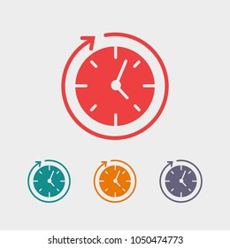 Clock vector icon. Time is a business concept. The symbol of time