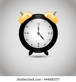 Clock vector .Modern flat icon in stylish colors. Web site page and mobile app design element.