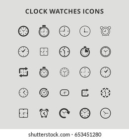 Clock Watches Icons