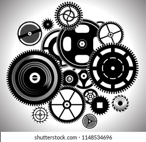clock work watch time mechanism gears and cogs