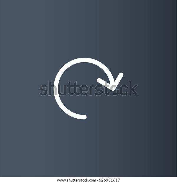 Clockwise rotating arrow icon. Counter vector