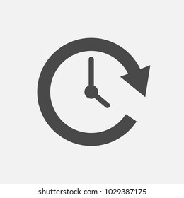 clockwise rotation icon arrow and time