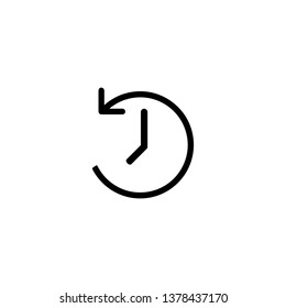 clockwise rotation icon arrow and time. Vector illustration.