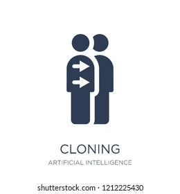 Cloning icon. Trendy flat vector Cloning icon on white background from Artificial Intelligence, Future Technology collection, vector illustration can be use for web and mobile, eps10