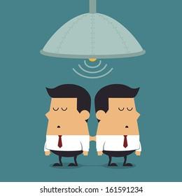 Cloning machine of businessmen, Business concept