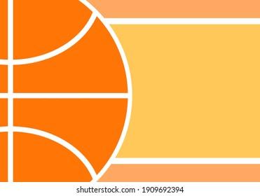 close up of ball surface on orange background, basketball vector design illustration.