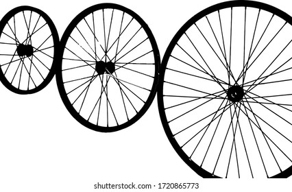 close up bicycle wheel vector illustration