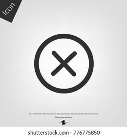 Close or delete vector icon