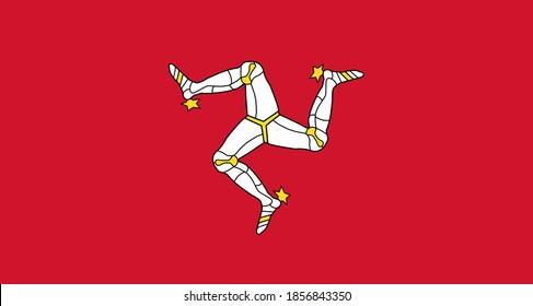close up flag of Isle Mann (UK)
