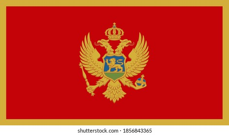 close up flag of Montenegro