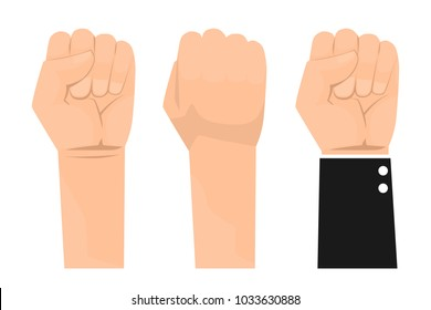 close up of hand gesturing. Business Hand fist vector illustration. Use for advertising and presentation.