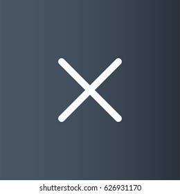 Close icon. Cross vector