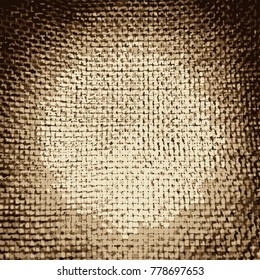 Close up of a jute material, vector