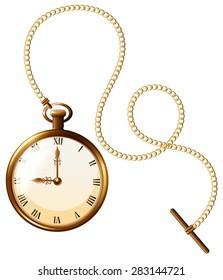 Close up luxury design of pocket watch