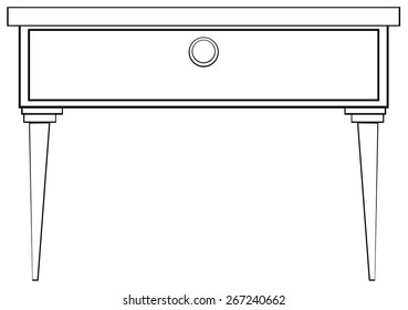 Close up table with simple design