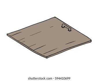Close trapdoor illustration
