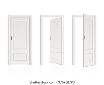 Closed Door with Frame Isolated on Background vector design