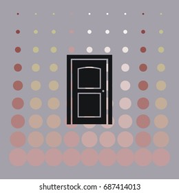 the closed doors, vector icon