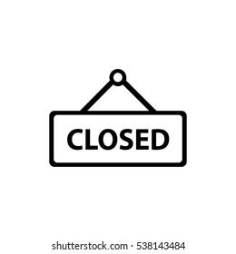 Closed Icon Vector Illustration