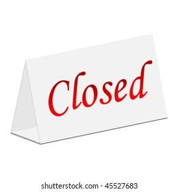 closed panel