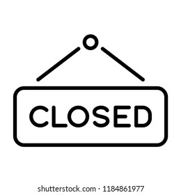 Closed sign icon in trendy flat style isolated on grey background. Website pictogram. Internet symbol for your web site design, logo, app, UI. Vector illustration, EPS10.