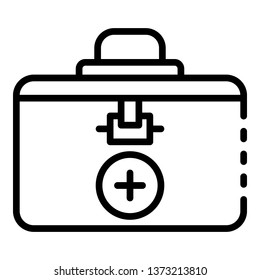 Closed transplant box icon. Outline closed transplant box vector icon for web design isolated on white background