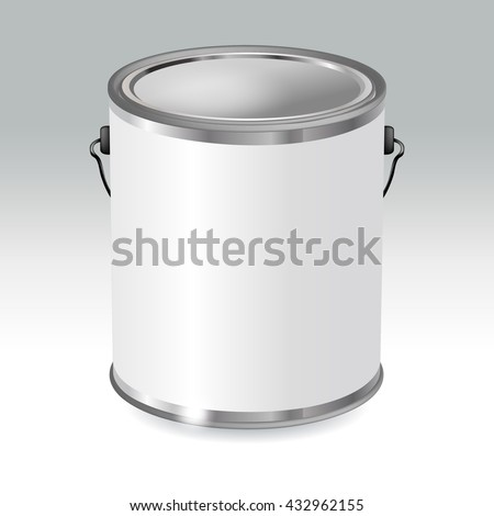 Closed White Metal Tin Can Template Stock Vector Royalty Free