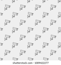 Closed-circuit television camera vector minimal seamless pattern or background