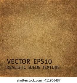 Closeup beige suede texture, realistic vector background