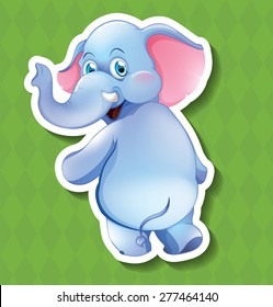 Closeup happy elephant turning the head