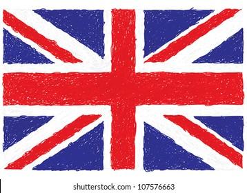 closeup illustration of a united kingdom flag.