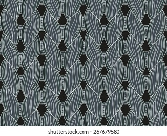 Close-up of a seamless knitted pattern dark colors.
