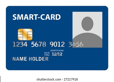 Closeup of Smart-Card with Microchip