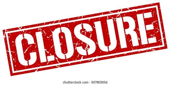closure. grunge vintage closure square stamp. closure stamp.
